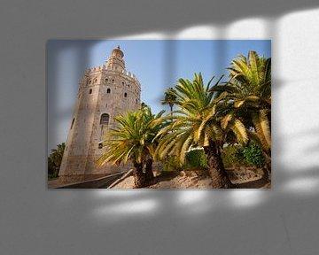 De wachttoren Torre del Oro in Sevilla van Fotografiecor .nl
