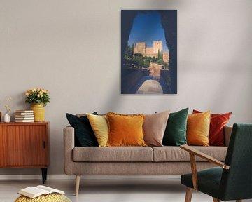 Die mittelalterlichen Türme der Alhambra von Fotografiecor .nl