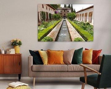 Het Generalife paleis van de sultans van Granada van Fotografiecor .nl