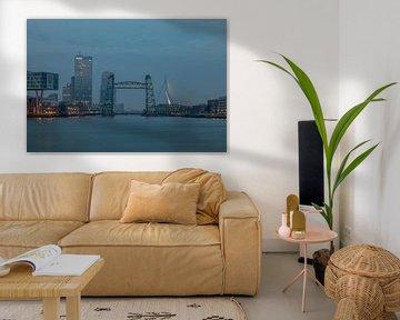 De Hef in Rotterdam tijdens het blauw uurtje van MS Fotografie | Marc van der Stelt