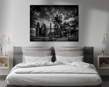 Steelworks (black and white) van Lex Schulte