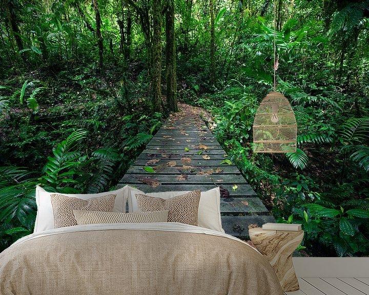 Sfeerimpressie behang: Hiking the Rainforest van Martijn Smeets