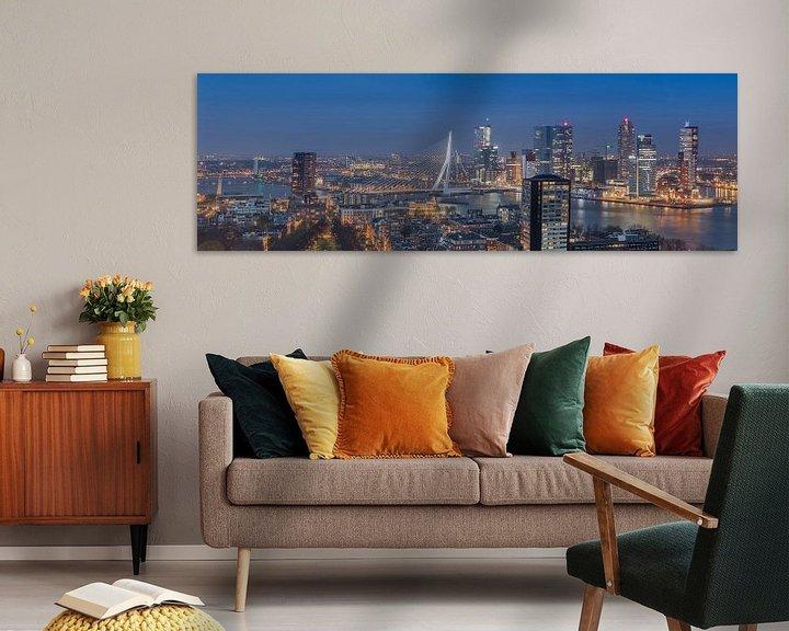 Sfeerimpressie: Panorama skyline Rotterdam (kleur) van PJS foto