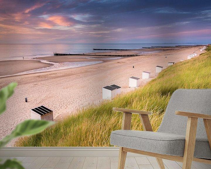 Beispiel fototapete: Domburg Strand von Sander Poppe