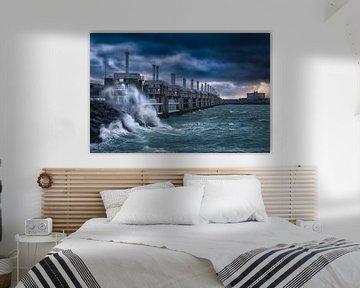 Storm in Neeltje Jans von Sander Poppe