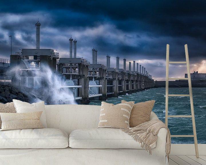 Beispiel fototapete: Storm in Neeltje Jans von Sander Poppe