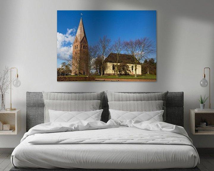 Sfeerimpressie: Hervormde kerk met vrijstaande toren in Schildwolde van Arline Photography
