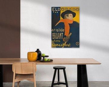 Plakat für die Aufführung von Aristide Bruant im Cafékonzert Eldorado