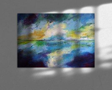 abstrakt landschap van Deniz Paulat
