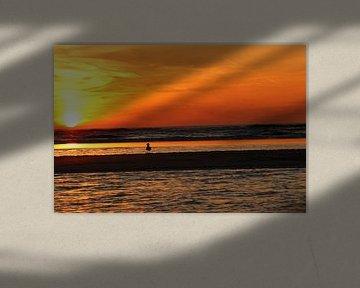 Zandvoort zonsondergang van Veli Aydin