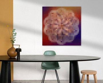 Pixel mandala van Rietje Bulthuis