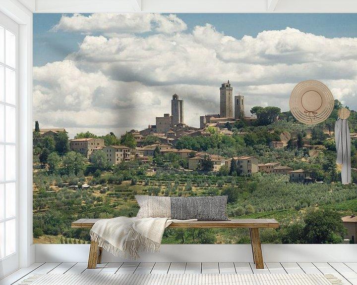 Sfeerimpressie behang: San Gimignano van Mike Fortgens