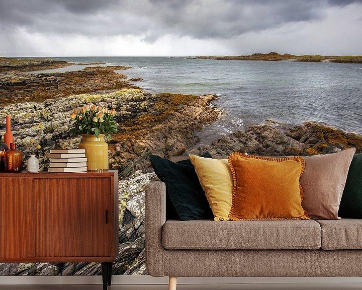 Sfeerimpressie behang: The edge of Schotland  van Steven Dijkshoorn