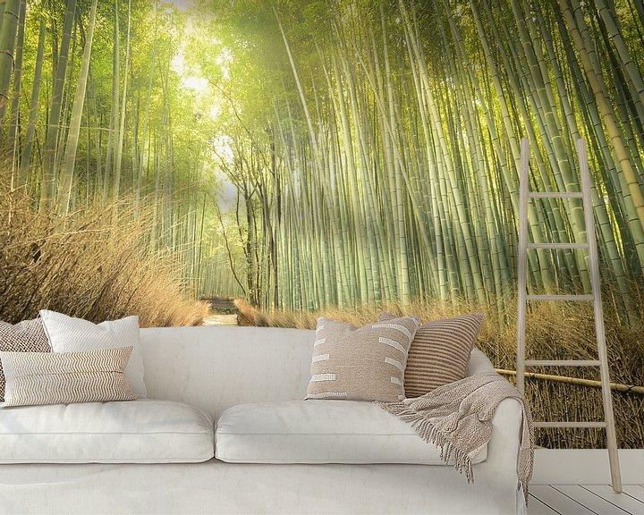 Beispiel fototapete: Bamboo Forest,  Kyoto, Japan von Robert van Hall