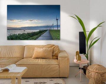 Windmolens aan het Gooimeer van Jan Croonen