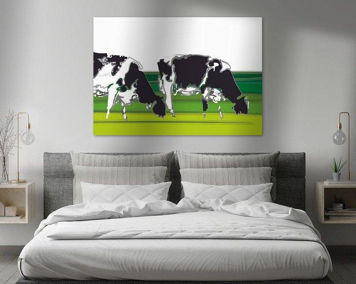 Beispiel: Kühe in minimalistischen Landschaft von Color Square