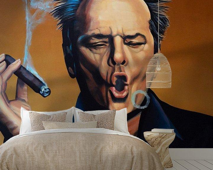 Beispiel fototapete: Jack Nicholson Schilderij von Paul Meijering