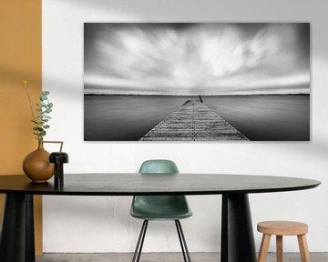 Monochrome landschap van Pieter van Roijen