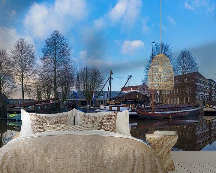 Sfeerimpressie behang: Panorama Gouda van Sander Poppe