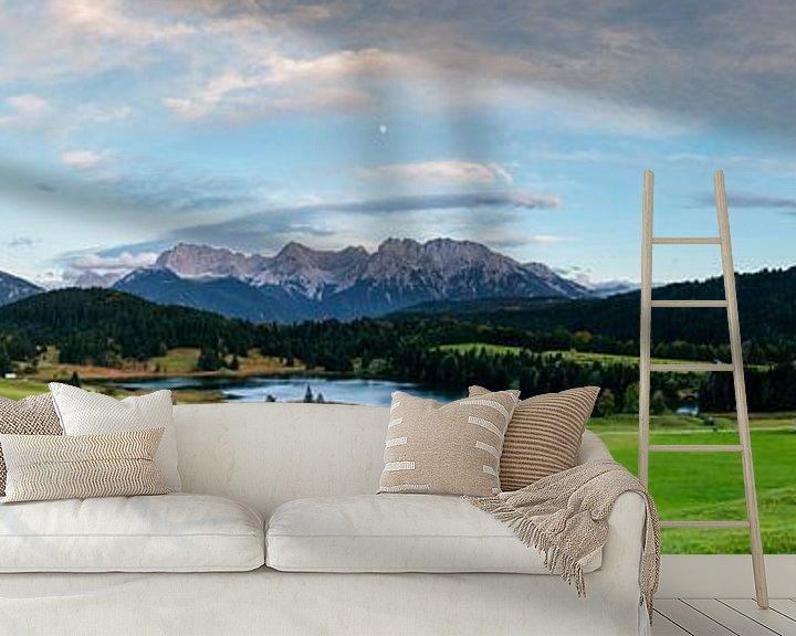 Sfeerimpressie behang: Panorama Geroldsee van Sander Poppe
