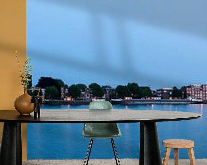 Sfeerimpressie behang: Panorama Dordrecht van Sander Poppe