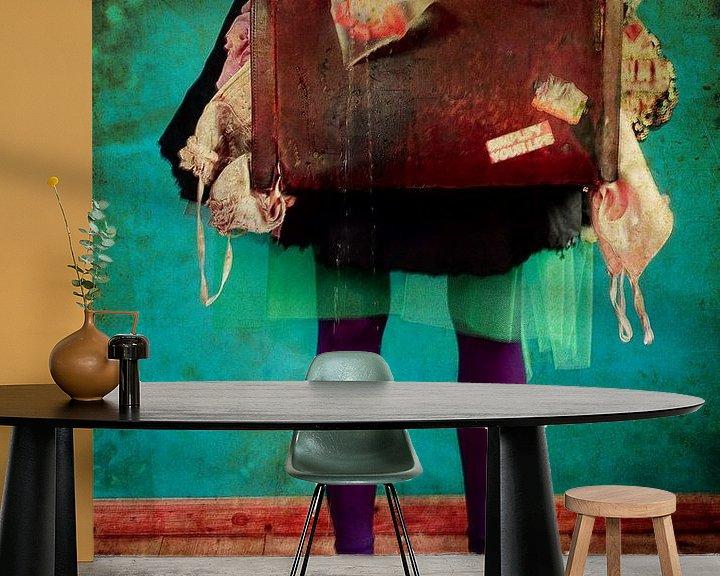 Sfeerimpressie behang: Fishy stuff van Carla Broekhuizen