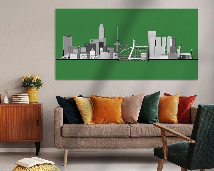 Sfeerimpressie: Rotterdamse skyline, Rotterdams groen van Frans Blok
