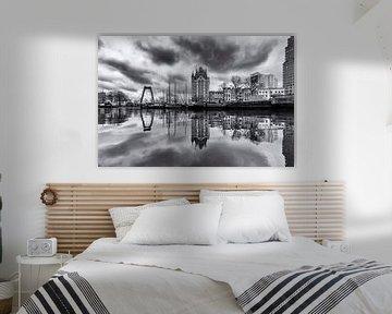 Dark clouds over the Oude Haven van Marcel Moonen @ MMC Artworks