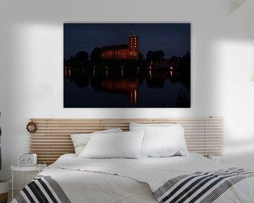 koldinghus in Kolding denemarken in de nacht van tiny brok