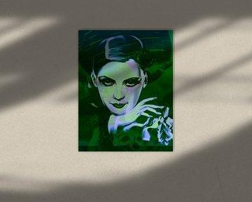 Greta Garbo Plakative Pop Art PUR 1 van Felix von Altersheim