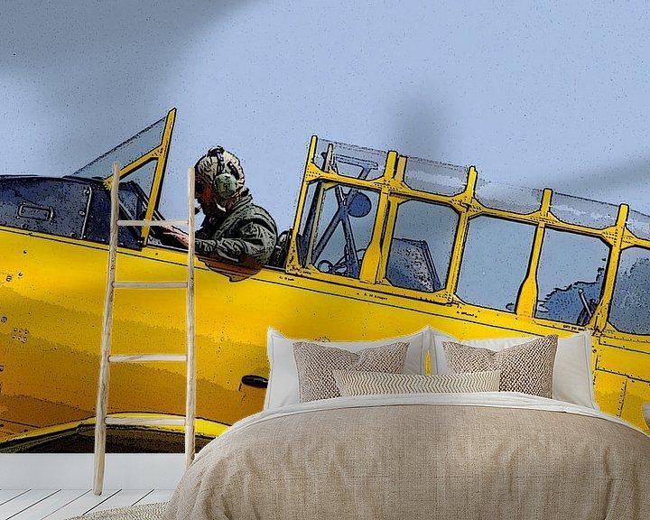 Sfeerimpressie behang: Ready for take-off van Pim Feijen