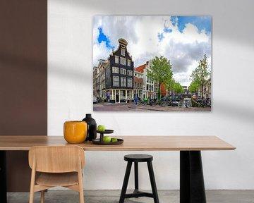 Blauwburgwal Amsterdam van Foto Amsterdam/ Peter Bartelings
