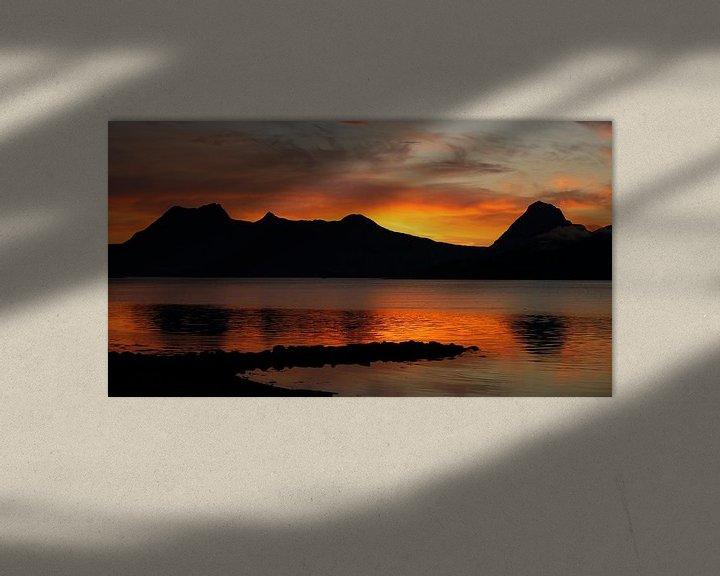 Sfeerimpressie: Zonsondergang Noorwegen van Martzen Fotografie