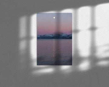 Volle maan in Noorwegen van Patricia Dhont