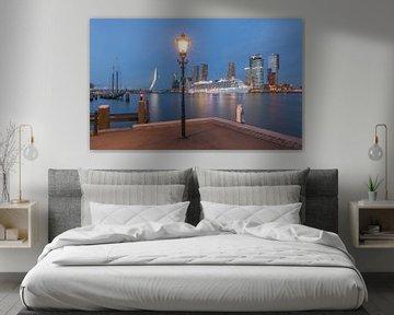 Cruiseschip Regal Princess in Rotterdam tijdens het blauw uurtje van MS Fotografie | Marc van der Stelt