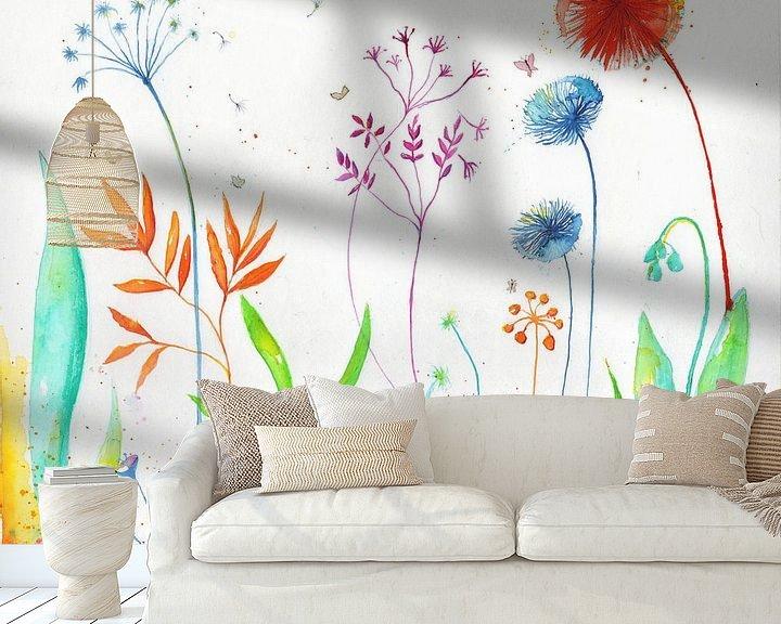 Sfeerimpressie behang: Magical flowers van keanne van de Kreeke