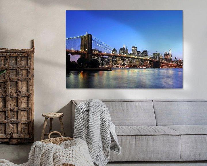 Sfeerimpressie: Brooklyn Bridge van Paul van Baardwijk