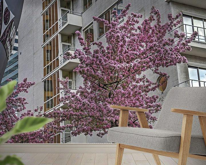 Sfeerimpressie behang: Dudok in de lente van Frans Blok