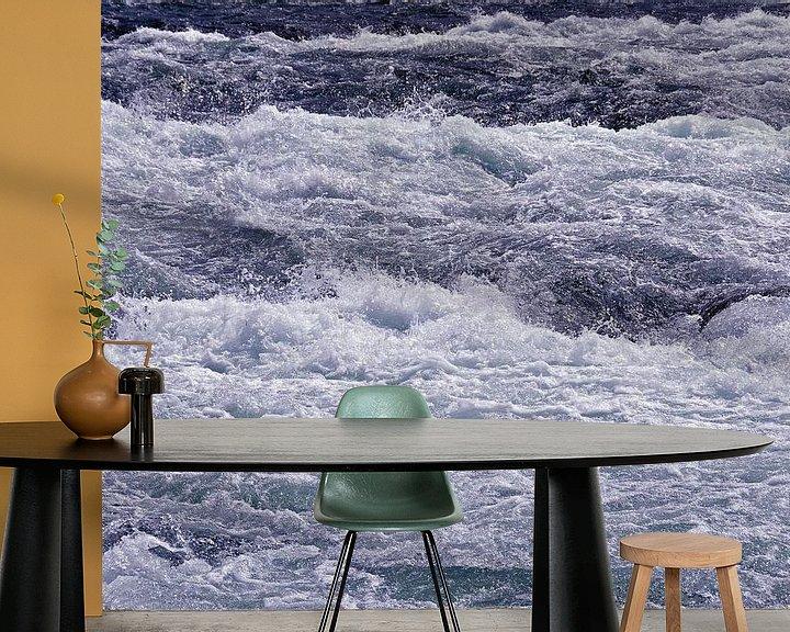 Sfeerimpressie behang: Woest Water van Paul van Baardwijk