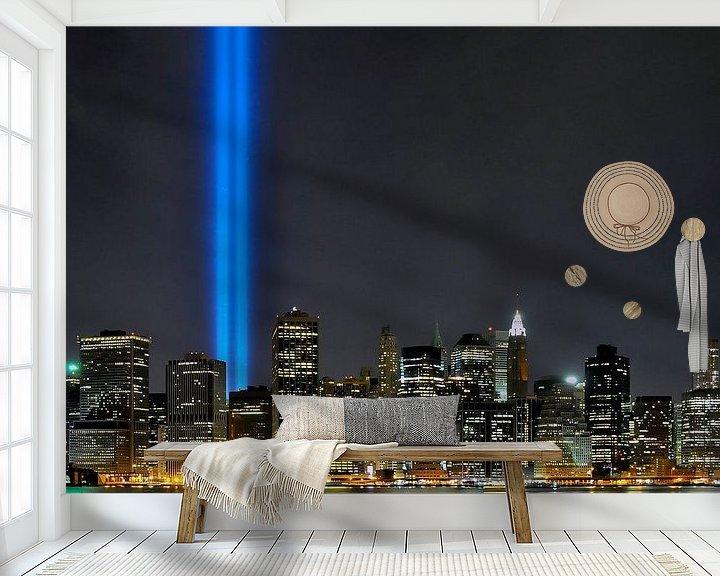 Beispiel fototapete: 9-11 Skyline von Paul van Baardwijk