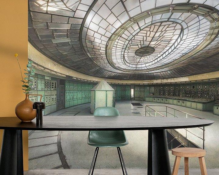 Sfeerimpressie behang: De grote controlekamer van Perry Wiertz