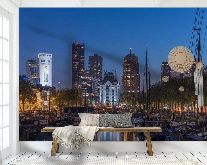 Impression: Le Haringvliet à Rotterdam au cours de l'heure bleue sur MS Fotografie | Marc van der Stelt