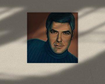 George Clooney  Schilderij von Paul Meijering