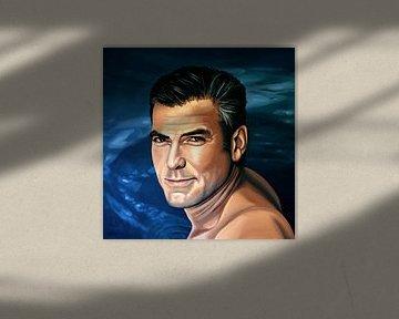 George Clooney  Schilderij 2 von Paul Meijering