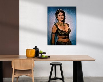 Gina Lollobrigida Schilderij van Paul Meijering