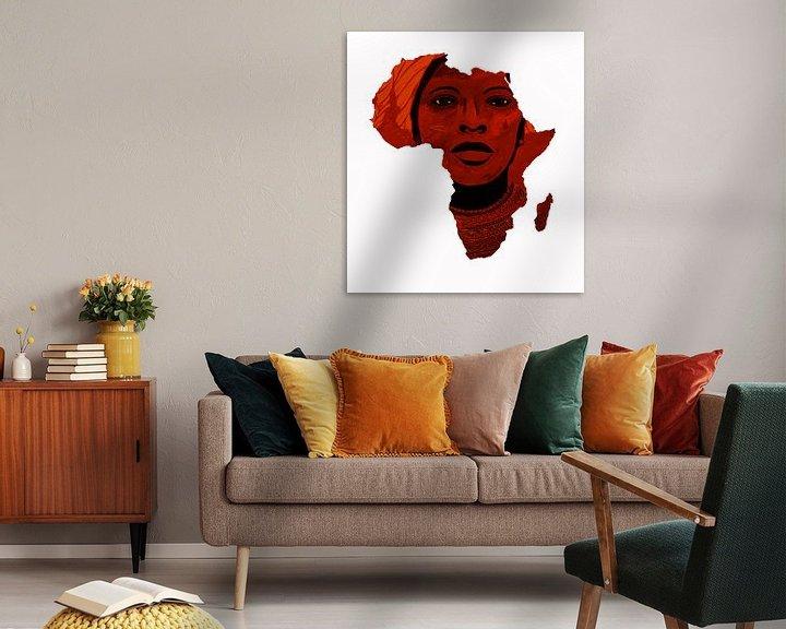 Sfeerimpressie: Moeder Afrika 1 van Irene Jonker