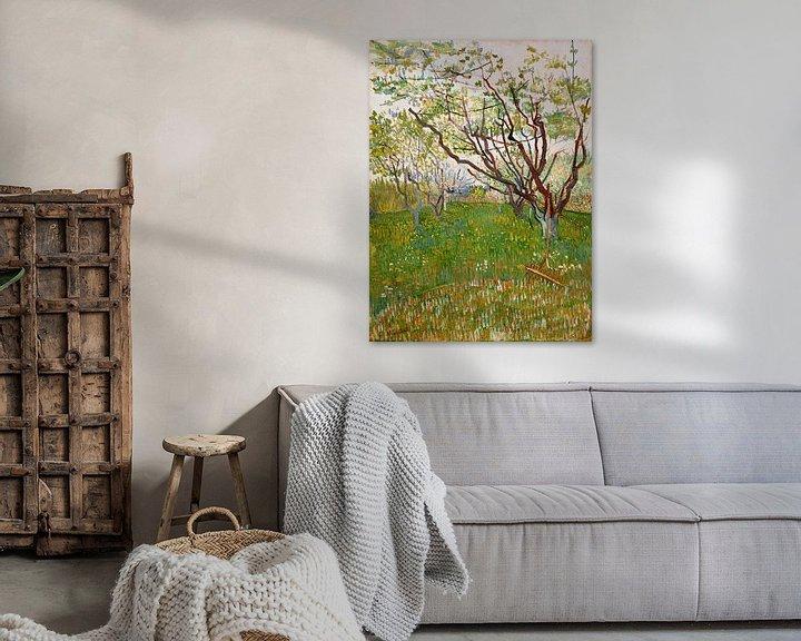 Sfeerimpressie: Bloeiende boomgaard, Vincent van Gogh