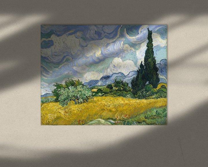 Beispiel: Weizenfeld mit Zypressen - Vincent van Gogh
