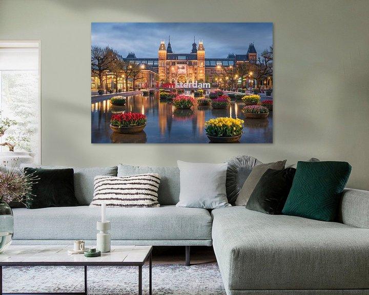 Impression: Rijksmuseum and tulips sur Pieter Struiksma