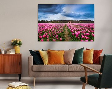 Een tulpenveld bij Lisse 'Nederland'  von Etienne Hessels